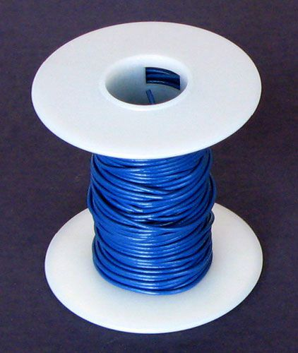 22 GA BLUE HOOK-UP WIRE, SOLID 25'