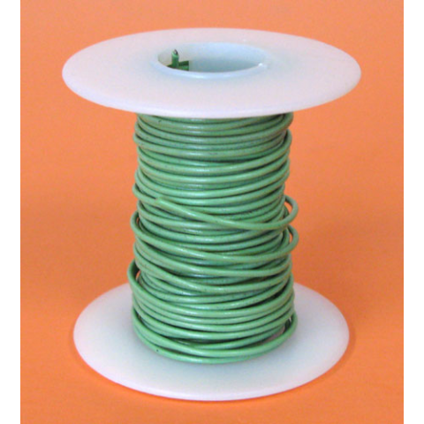 20 GA GREEN HOOK UP WIRE, STR 25'