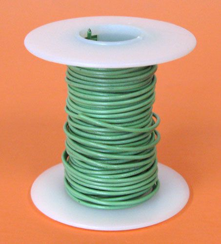 20 GA. GREEN HOOK-UP WIRE, SOLID 25'