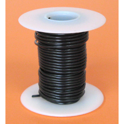 18 GA. BLACK HOOK-UP WIRE, SOLID 25'