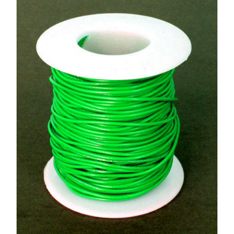 24 GA GREEN HOOK-UP WIRE, SOLID 100'