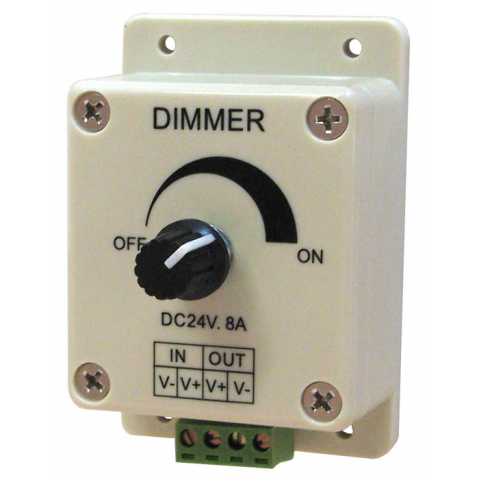 12-24 VDC 8A DIMMER FOR LED STRIPS