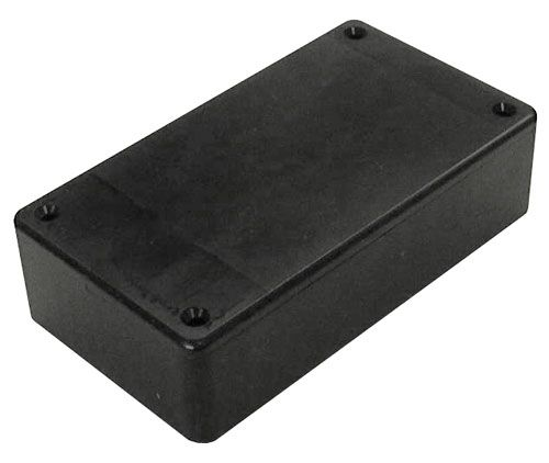 "4.4"" X 2.5"" X 1.2"" BLACK PLASTIC CASE"