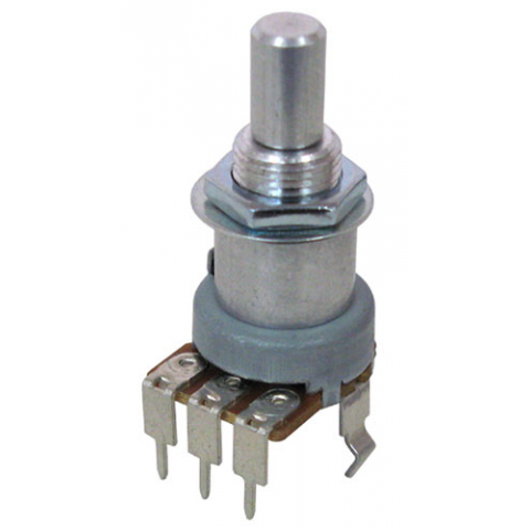 "1M AUDIO TAPER POTENTIOMETER, 1/4"" SHAFT"