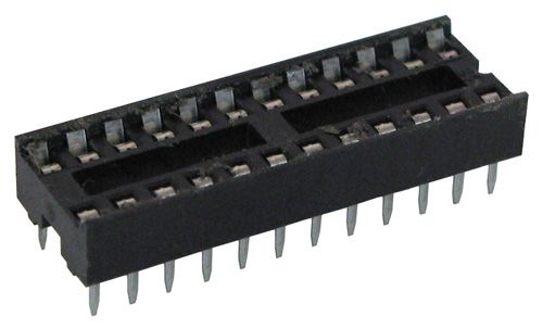 24 PIN, NARROW DIP IC SOCKET