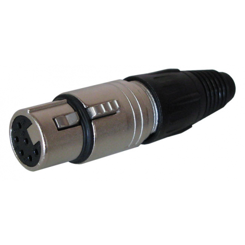 6-PIN XLR FEMALE CABLE CONNECTOR
