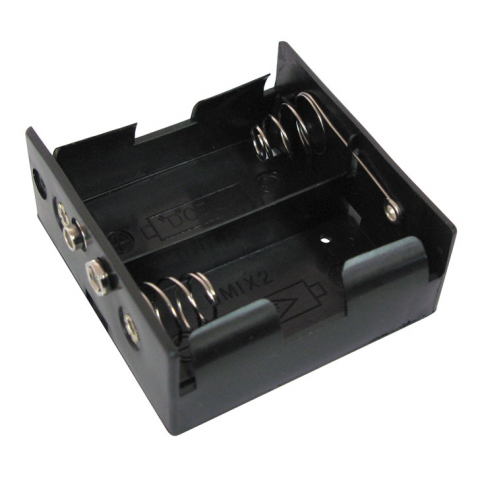 TWO D-CELL BATTERY HOLDER