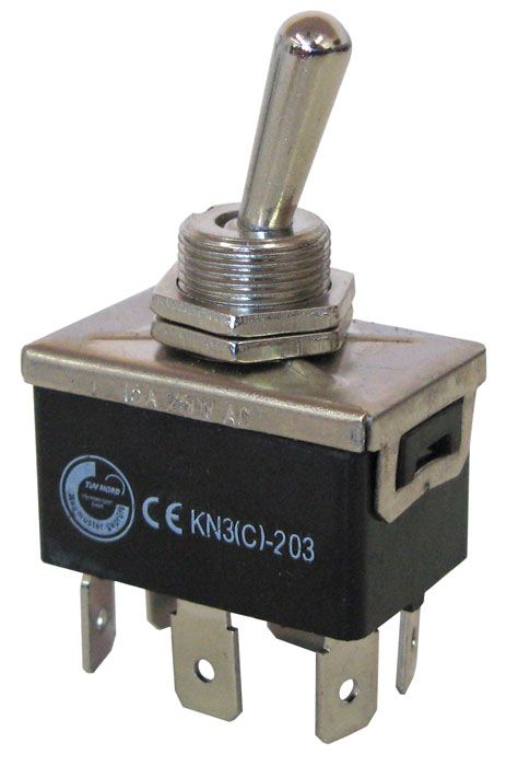 DPDT CENTER-OFF HEAVY-DUTY TOGGLE SWITCH