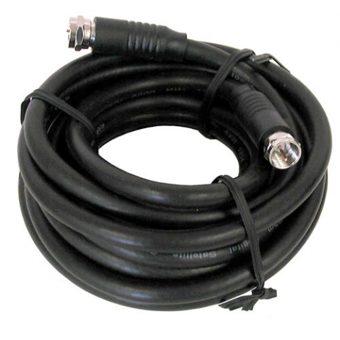 12' BLACK RG-6U VIDEO HOOK-UP CABLE