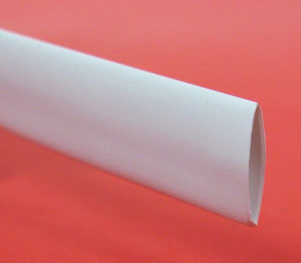 "3/8"" X 4' HEATSHRINK TUBE, WHITE"