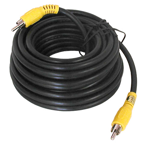 25' VIDEO CABLE, RCA PLUGS