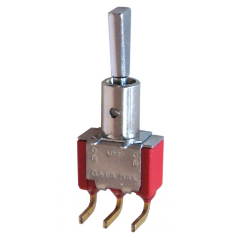 SPDT ON-OFF-(ON) MINI TOGGLE SWITCH