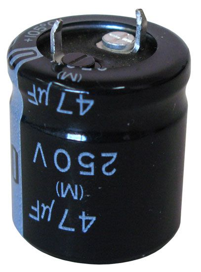 47 UF 250V ELECTROLYTIC SNAP-IN