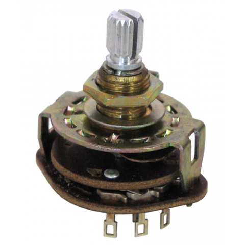 ROTARY SWITCH, 2-POLE, 3-POSITION