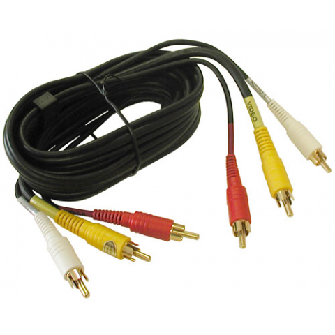 6' STEREO AUDIO / VIDEO DUBBING CABLE
