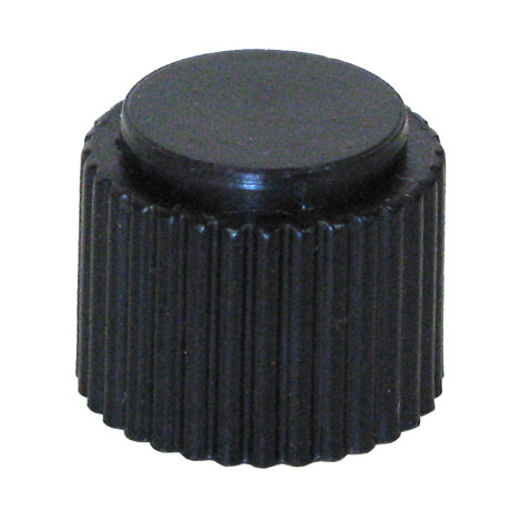 SERRATED BLACK KNOB FOR 6MM KNURLED SHAFT