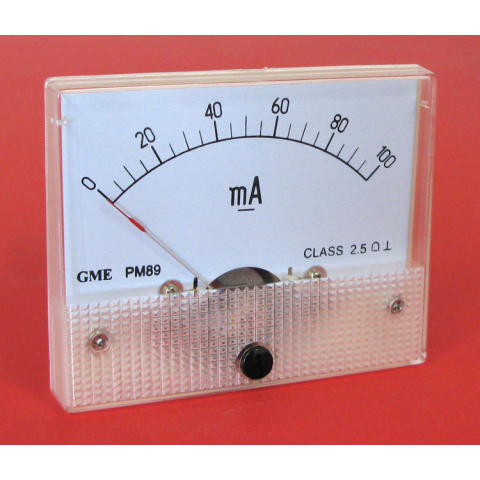 100 MA DC PANEL METER