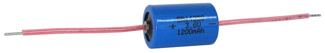 3.6V 1/2 AA-SIZE BATTERY W/ WIRE LEADS