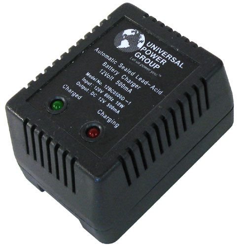 12VDC 500MA 2-STAGE CHARGER FOR LEAD-ACID BATTERIES