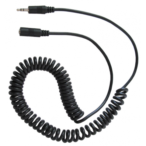 10 Coiled Extension Cord 3 5mm M F
