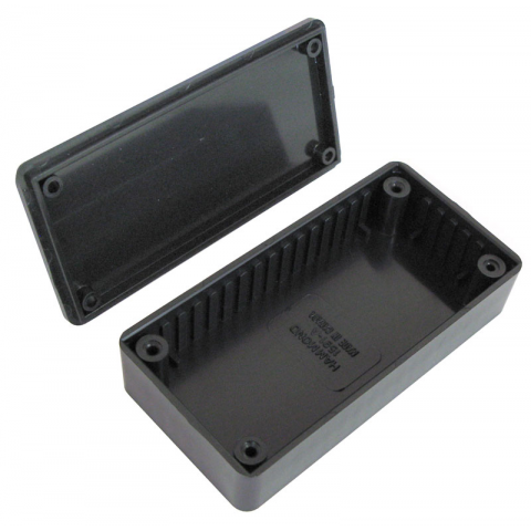 BLACK PLASTIC CASE, 100MM x 50MM x 21MM