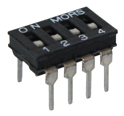 4-POLE DIP SWITCH, LOW PROFILE