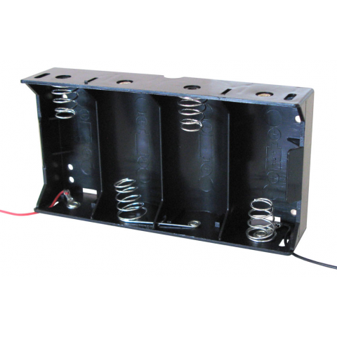 FOUR D-CELL BATTERY HOLDER