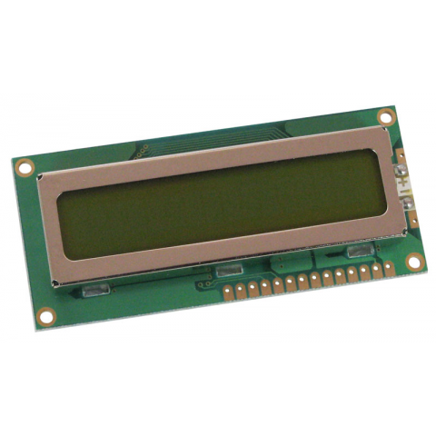 16 CHARACTER X 1 LINE LCD W/ LED BACKLIGHT