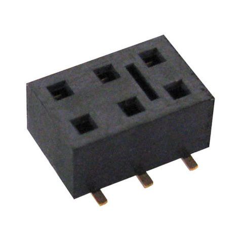 6-PIN DUAL-ROW SOCKET, SURFACE MOUNT