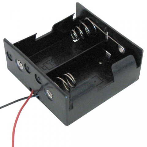 BATTERY HOLDER, 2 D CELLS