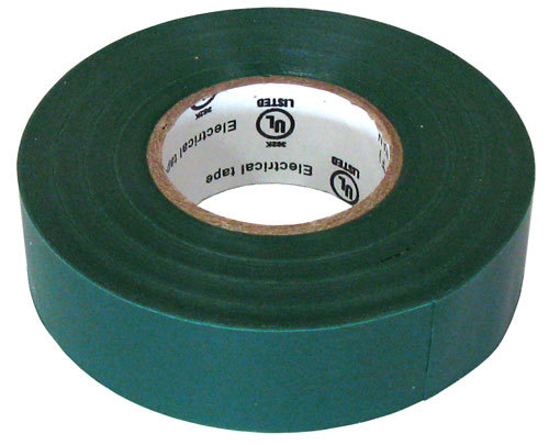 "3/4"" X 60' ELECTRICAL TAPE UL, GREEN"