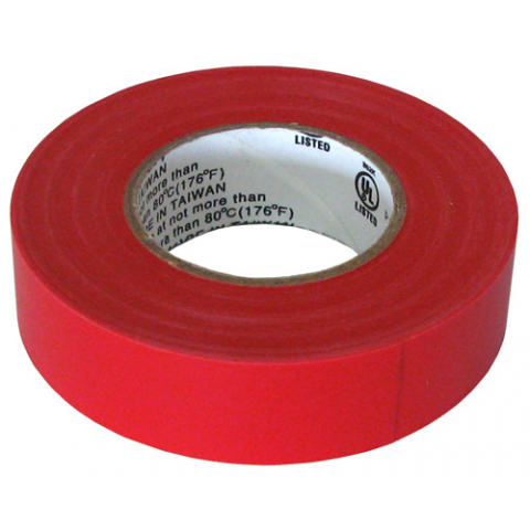 "3/4"" X 60' ELECTRICAL TAPE UL, RED"