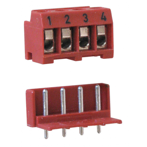4-POSITION PLUGGABLE TERMINAL STRIP AND HEADER