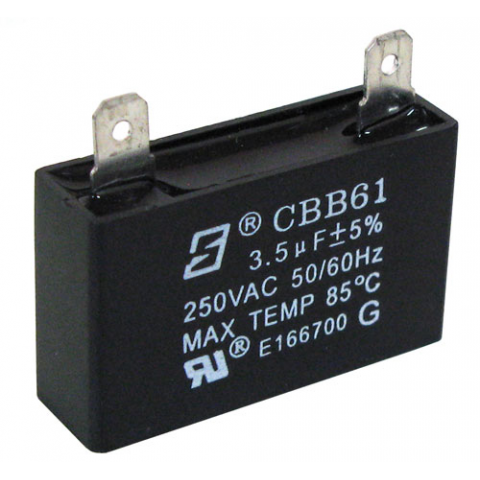 3.5 UF 250 VAC MOTOR RUN CAPACITOR