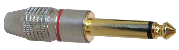 "1/4"" MONO PHONE PLUG, METAL SHELL"