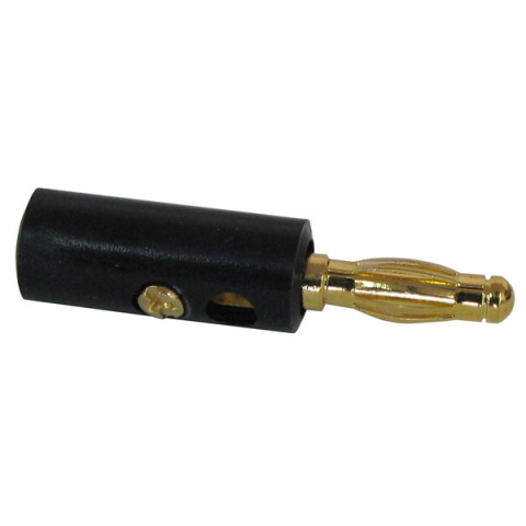 BLACK BANANA PLUG, PLASTIC SHELL