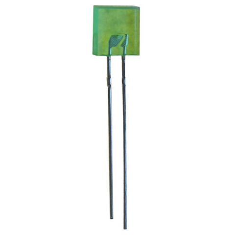 GREEN RECTANGULAR LED