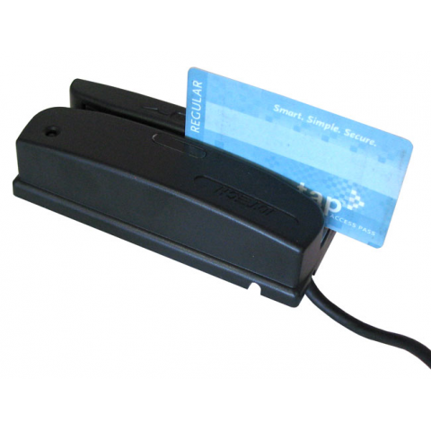 MAGNETIC STRIPE AND BARCODE READER