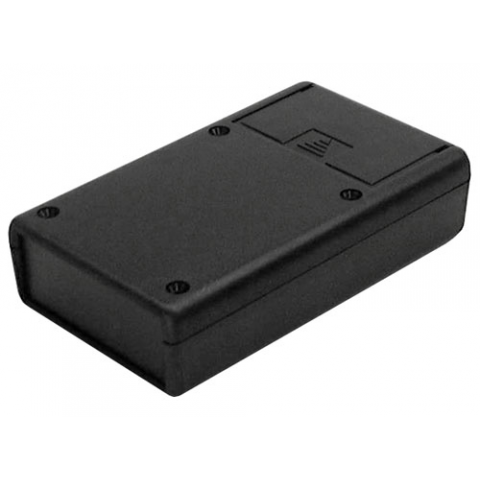 "BLACK PLASTIC CASE, 2.6"" X 4.4"" 1.1"""
