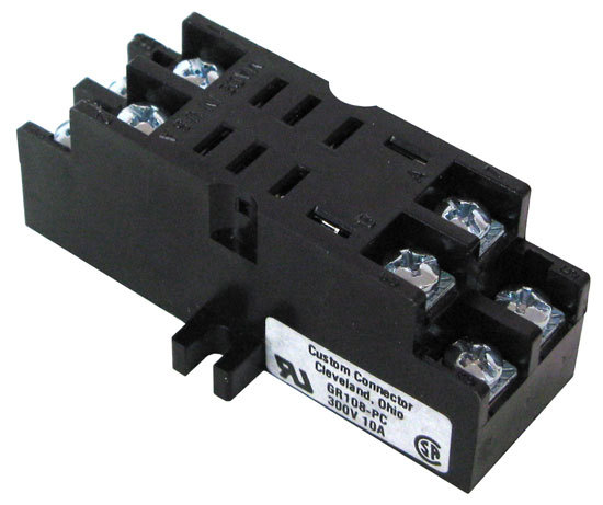 relay sockets all electronics corp for 8 pin dpdt relays rectangular base fits our cat s rly 2012 rly 2024 rly 2120 rly 453 and rly 556 ul csa