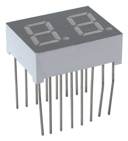 DUAL 7 SEGMENT GREEN LED, COMMON ANODE