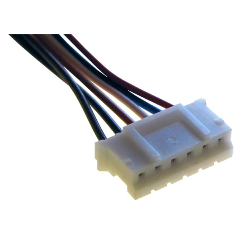 6-CONDUCTOR FEMALE CONNECTOR, 2MM SPACING