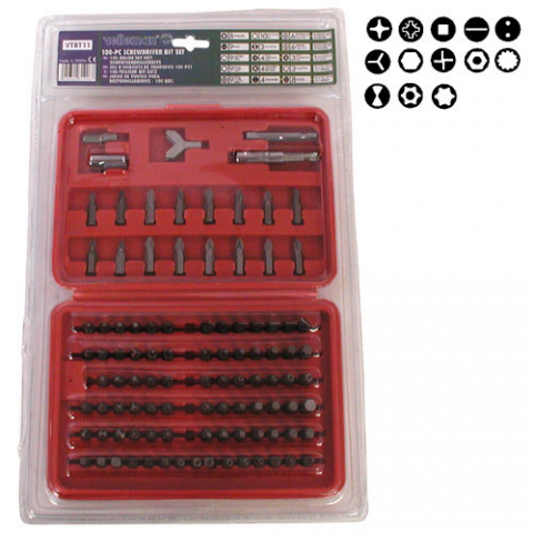 100 PC SCREWDRIVER BIT SET