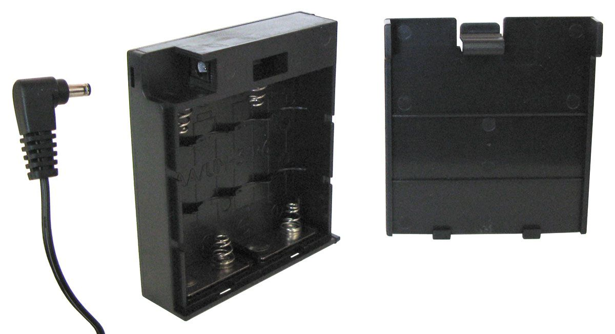 BATTERY CASE FOR 4 AA CELLS