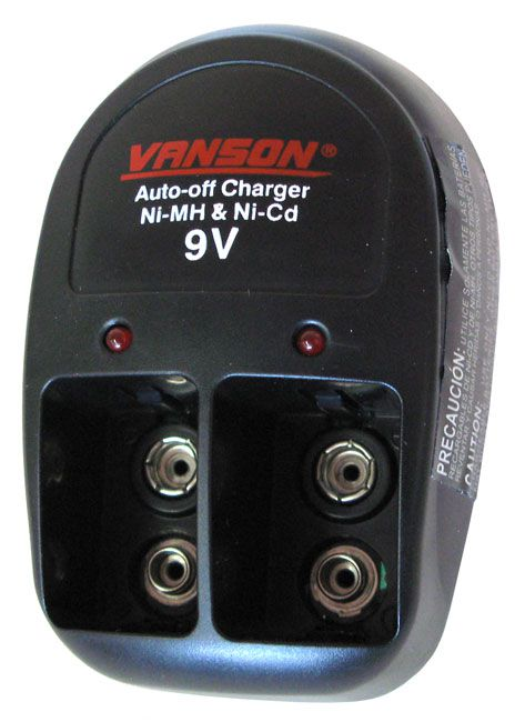 CHARGER FOR 9V NIMH/NICD BATTERIES