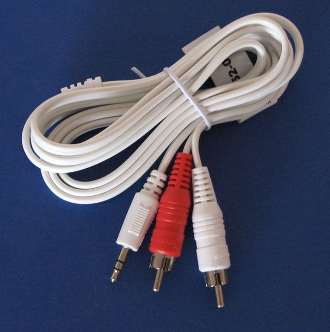 SHIELDED AUDIO CABLE, 3.5MM STEREO TO 2 RCA PLUGS