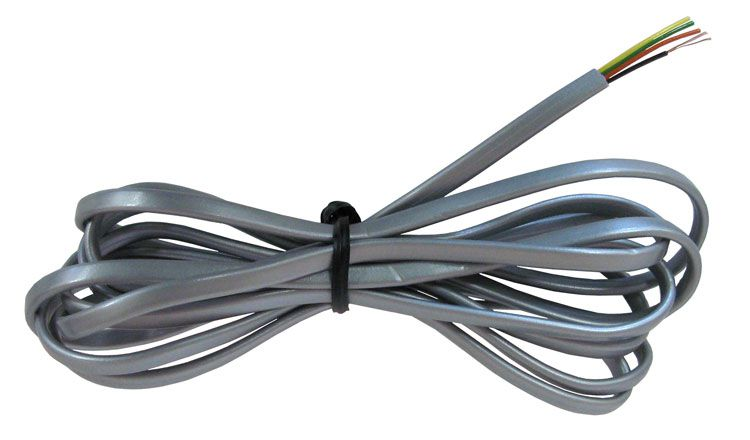 7' 4-CONDUCTOR SILVER SATIN PHONE WIRE