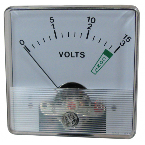 PANEL METER, FULL SCALE=1MA DC