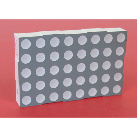 "2.3"" 5 X 8 RED-GREEN DOT MATRIX"