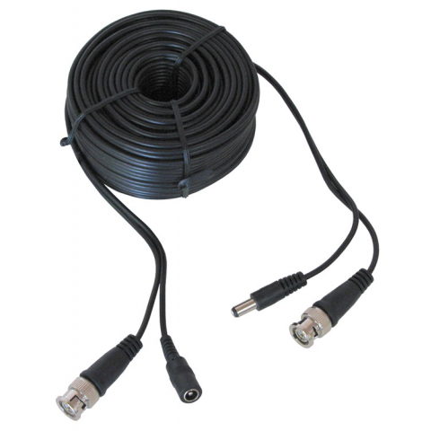 50' BNC VIDEO & POWER CABLE